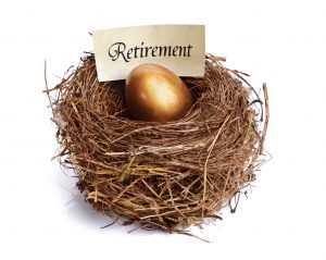 25151339 - golden nest egg concept for retirement savings