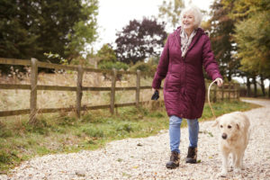 Enjoy a walk with your pup at our pet friendly assisted living community in Rome, GA.